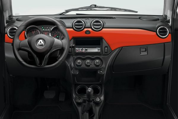 Brommobielen AIXAM City Dashboard rood